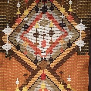 Nicole Miller Accessories - Nicole Miller Silk Scarf Oblong Aztec Tribal Theme